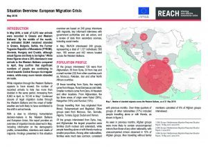 SRB_Monthly Situation Overview_Migration Monitoring in the Western Balkans_May 2016